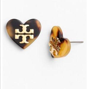 Tory Burch Tortoise Heart Earrings